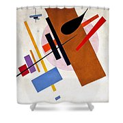 Digital Remastered Edition - Suprematism, No55 Shower Curtain