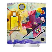 Digital Remastered Edition - Yellow, Red, Blue Shower Curtain