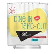Dine In Kitchen - Art By Linda Woods Shower Curtain