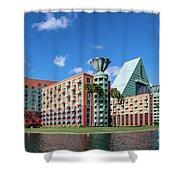 Disney Dolphin Hotel Shower Curtain