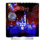 Disneyland 60th Anniversary Fireworks Shower Curtain