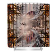 Distracted By Thoughts Shower Curtain