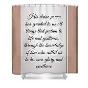 Divine Power 2 1 3 Shower Curtain