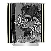 Diving The Great Barrier Reef In Black And White Shower Curtain