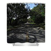 Dixie Highway In Micanopy Florida Shower Curtain