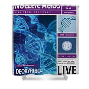 Dna Poster Shower Curtain