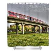 Docklands Light Railway Train  Shower Curtain
