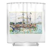 Docks At Saint Malo - Digital Remastered Edition Shower Curtain