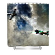 Dogfight Shower Curtain