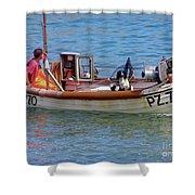Doggone Fishin Shower Curtain