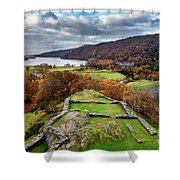 Dolbadarn Castle View Shower Curtain