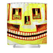 Dom The Sun Sugarskull Shower Curtain