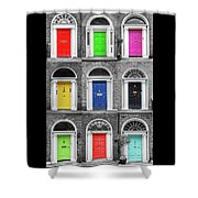 Doors Of Dublin - Vertical Shower Curtain