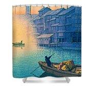 Dotonbori Morning - Top Quality Image Edition Shower Curtain