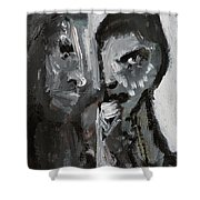 Double Portrait Shower Curtain