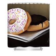 Doughnut Life Shower Curtain