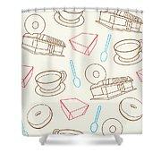 Doughnut_wallpaper_f3 Shower Curtain