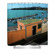Downhill To The Harbour Shower Curtain