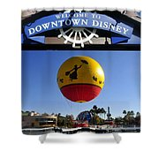 Downtown Disney Tribute Poster 2 Shower Curtain