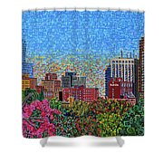 Downtown Raleigh - October Sunset Shower Curtain