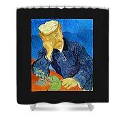Dr Paul Gachet - Digital Remastered Edition Shower Curtain