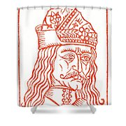 Dracula Or Vlad Tepes, 1491 Woodcut Shower Curtain