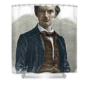 Drawing Of Charles Baudelaire Shower Curtain