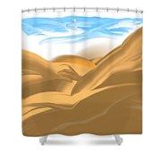 Dream Baby Shower Curtain