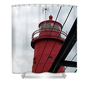 Dressed In Red Shower Curtain by Michelle Wermuth