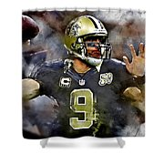 Drew Brees Shower Curtain