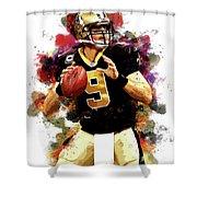 Drew Brees New Orleans Saints Nfl Shower Curtain
