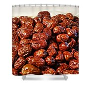 Dried Chinese Red Dates Shower Curtain