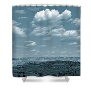 Drifting Clouds And Shifting Shadows Shower Curtain by Cris Fulton