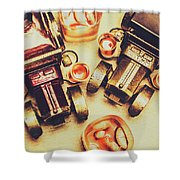 Drinks Delivery Shower Curtain