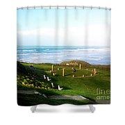 Droskyn Sundial Perranporth Shower Curtain