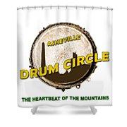 Drum Circle Logo Shower Curtain