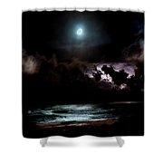 Drummer's Moon Shower Curtain