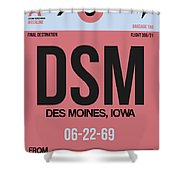 Dsm Des Moines Luggage Tag I Shower Curtain