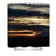 Dual Sunstars At Nipple Bench Sunrise Shower Curtain