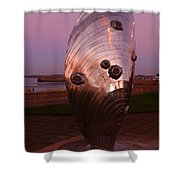 Dusk At The Sculpture Shower Curtain