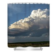 Dying Thunderstorms At Sunset 006 Shower Curtain