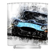 E-type Racing Shower Curtain