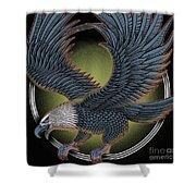 Eagle Illustration  Shower Curtain