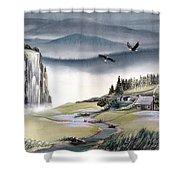 Eagle View Shower Curtain by Deleas Kilgore