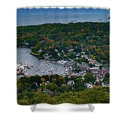 Early Fall Colors Of Camden Maine Shower Curtain by Jeff Folger