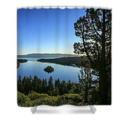 Early Morning Emerald Bay Shower Curtain