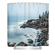 East Coast Winters Shower Curtain