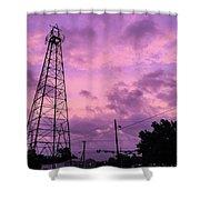 East Texas Oil Derrick Shower Curtain