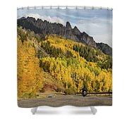 Easy Autumn Rider Shower Curtain