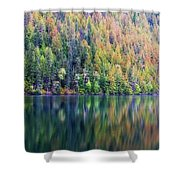 Echo Lake Autumn Shore Shower Curtain